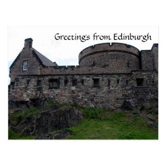 edinburgh castle round post cards