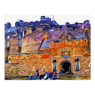 Edinburgh Castle, Scotland. Postcard