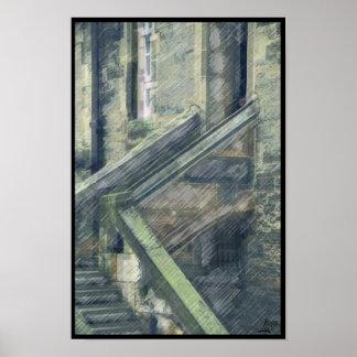 Edinburgh Castle Stairs Poster