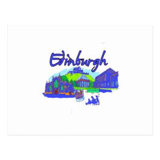 edinburgh city blue travel vacation image.png postcard