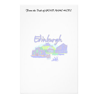 edinburgh city blue travel vacation image png personalized stationery