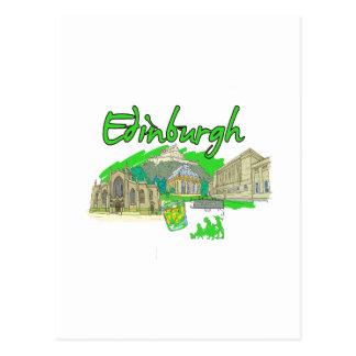 edinburgh city green travel vacation image.png postcard