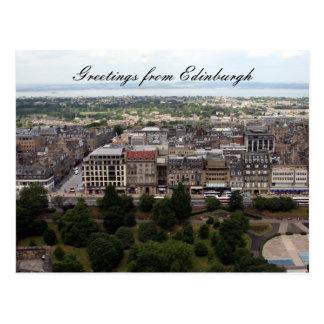 edinburgh city greetings postcard