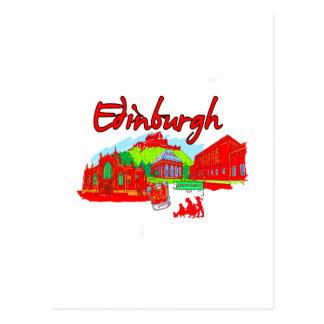 edinburgh city red travel vacation image.png postcard