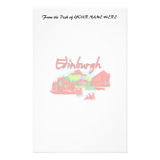 edinburgh city red travel vacation image png customized stationery