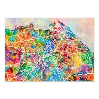 Edinburgh City Street Map Card