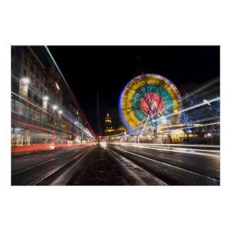 Edinburgh Ferris Wheel Poster