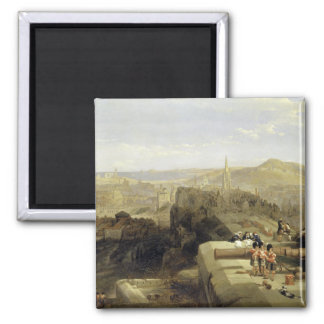 Edinburgh from the Castle 1847 Refrigerator Magnets