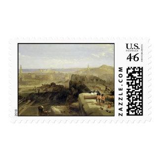Edinburgh from the Castle 1847 Postage