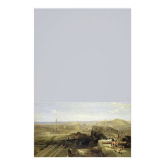 Edinburgh from the Castle 1847 Customized Stationery