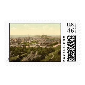 Edinburgh from the Castle, Scotland Postage Stamps