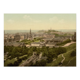 Edinburgh from the Castle, Scotland Print