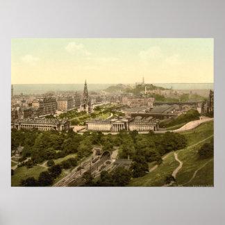 Edinburgh from the Castle, Scotland Poster