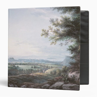 Edinburgh from the South, 18th century 3 Ring Binder