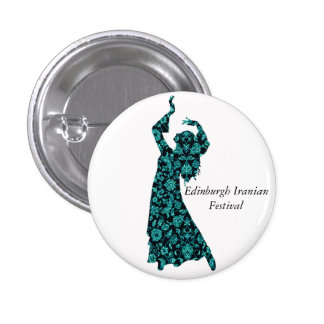Edinburgh Iranian Festival Badge-EIF Design White 1 Inch Round Button