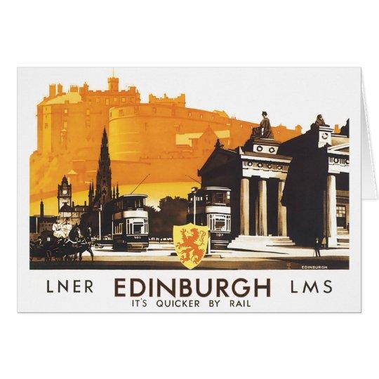 Edinburgh LNER Fine Vintage Travel Poster Card