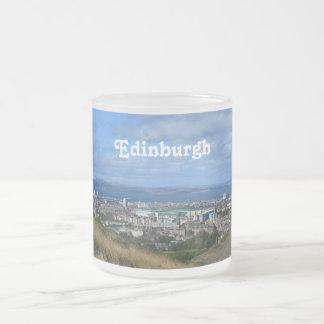 Edinburgh 10 Oz Frosted Glass Coffee Mug