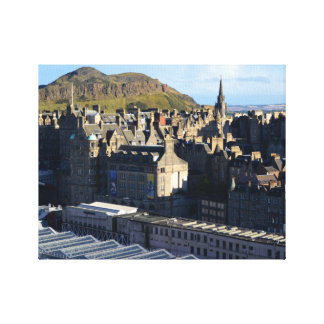 Edinburgh Old Town, Scotland. Canvas Print