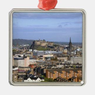 Edinburgh, Scotland. A view overlooking central Metal Ornament