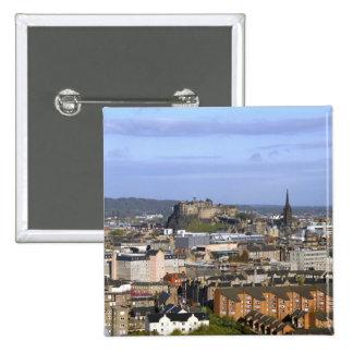 Edinburgh, Scotland. A view overlooking central Pinback Button