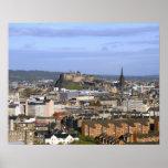 Edinburgh, Scotland. A view overlooking central Poster