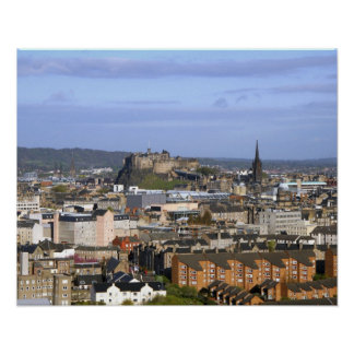Edinburgh, Scotland. A view overlooking central Poster