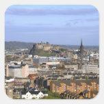 Edinburgh, Scotland. A view overlooking central Square Sticker