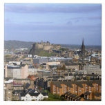 Edinburgh, Scotland. A view overlooking central Ceramic Tile