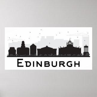 Edinburgh Scotland | Black and White Skyline Poster