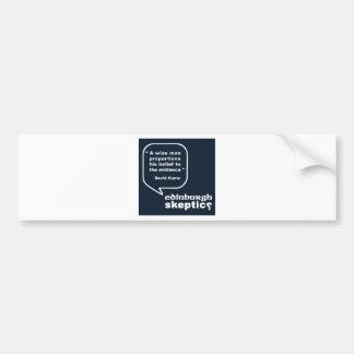 Edinburgh Skeptics - Hume Quote Bumper Sticker
