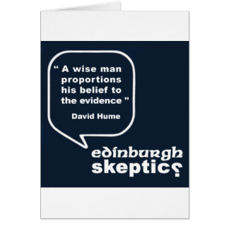 Edinburgh Skeptics - Hume Quote Card