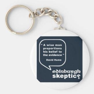 Edinburgh Skeptics - Hume Quote Keychains