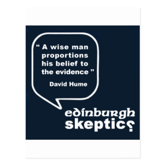 Edinburgh Skeptics - Hume Quote Post Card