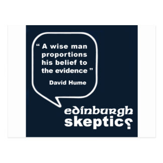 Edinburgh Skeptics - Hume Quote Postcard