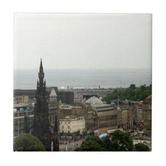 Edinburgh Skyline 001 Ceramic Tile