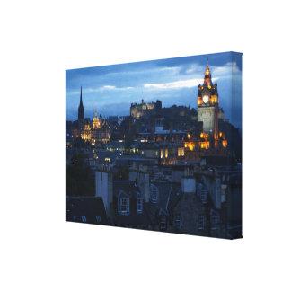 Edinburgh Skyline Gallery Wrapped Canvas