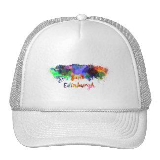 Edinburgh skyline in watercolor trucker hat