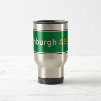 Edinburgh, UK Road Sign Travel Mug