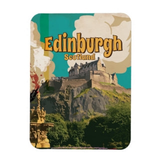 Edinburgh Vintage Travel Poster Magnet