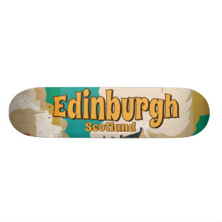 Edinburgh Vintage Travel Poster Skateboard Deck