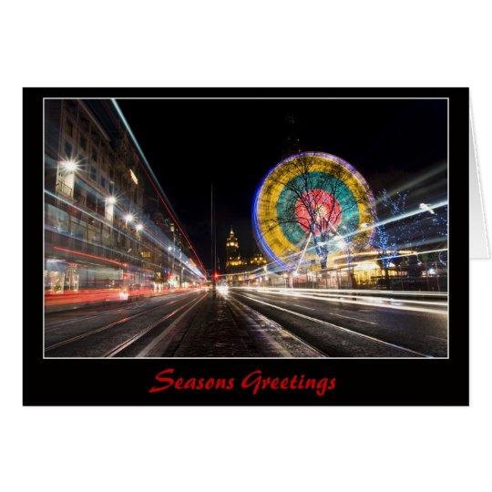 Edinburgh's Ferris Wheel at Christmas Card
