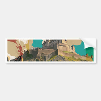 Edingburgh,Scotland Vintage Travel Poster Bumper Sticker