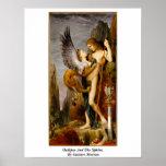 Edipo y la esfinge de Gustave Moreau Posters
