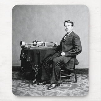 Edison and His Phonograph 1887 Mouse Pad