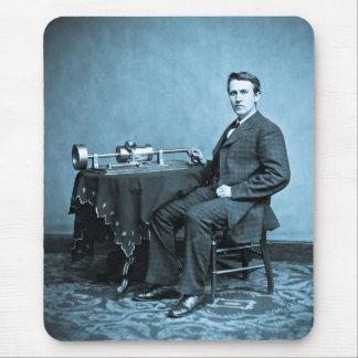 Edison and His Phonograph 1887 Mousepad