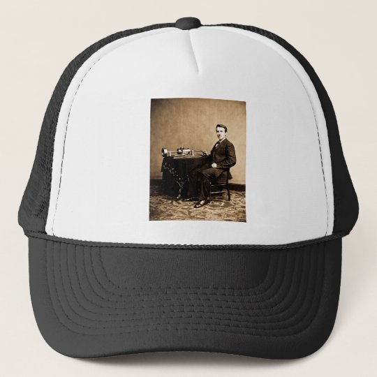 Edison and His Phonograph 1887 Trucker Hat