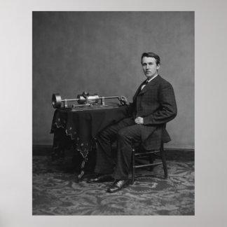 Edison and Phonograph Print