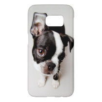 Edison Boston Terrier puppy. Samsung Galaxy S7 Case