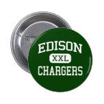Edison - cargadores - alto - Huntington Beach Pin