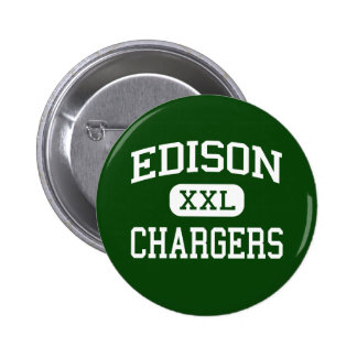 Edison - cargadores - alto - Huntington Beach Pin Redondo 5 Cm